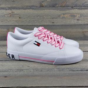 Tommy Hilfiger Women's White/Fuschia Sneakers NEW